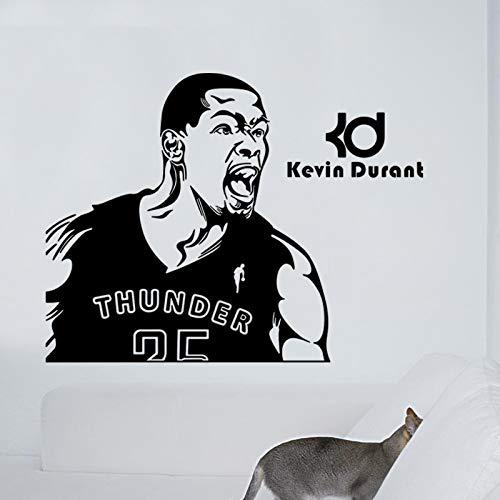 NBA Kevin Durant Wallpaper Baloncesto Etiqueta de la pared Calcomanía Decoración para el hogar Cartel Mural