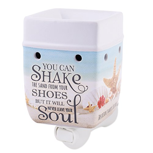 Elanze Designs Shake The Sand from Shoes Beach Ocean Stoneware Electric Plug-in Wax Tart Oil Warmer