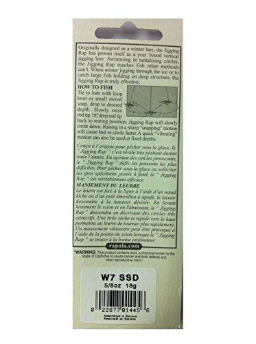 ラパラ(Rapala) ジギングラップ W7-SSD (シルバーシャッド) 7cm/18g