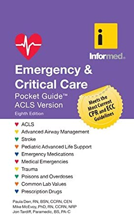 Emergency & Critical Care Pocket Guide by Informed Jon Tardiff Paula Derr Mike McEvoy(2016-10-05)