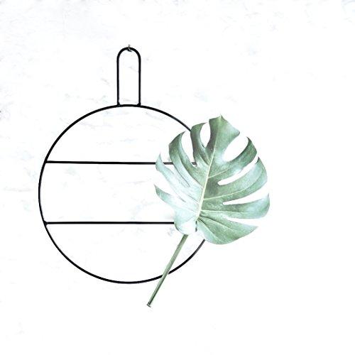 anaan Circle Design Wandkranz Metall Ring Eukalyptuskranz Kranz Handtuchhalter & Zeitschriftenhalter schwarz Wanddeko Türdeko (L Φ38*50cm)