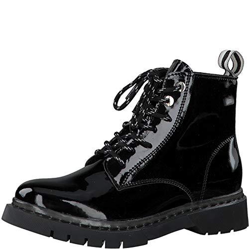 Tamaris Damen Stiefel 25206-34, Frauen Schnürstiefel, lose Einlage, elegant Women's Woman Freizeit leger Boots Combat weibliche,Black,38 EU / 5 UK