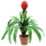 Colorato con un tocco speciale delle piante di casa 29miscela polimerica foglie e 1realistico Pineapple fiore Pentola per facile set up Adatto per tutte le occasioni Facile da riporre.