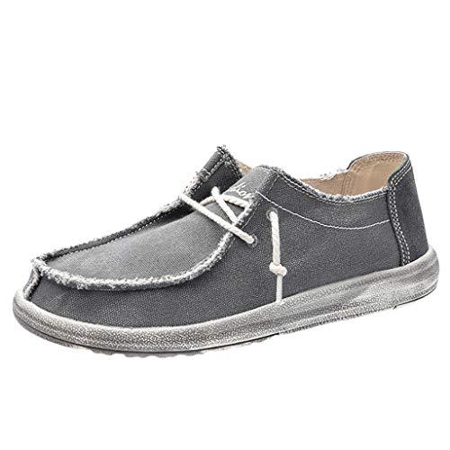 HoSayLike Zapatos De Hombre Moda Casual Elegante Negocios Zapatos De Tela Transpirable Widen Calzado Ancho Zapatos Casuales Universidad Suela De Goma