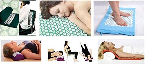 Eleusine 1pc D'Acupression Tapis Coussin de Massage pour Yoga Traitement des Douleurs Tensions (Rose)