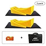 ROBLOCK Camper Leveling Blocks 2 Pack Kits Heavy Duty Curved Leveler Blocks Works for 30,000 LBS RV, Trailer, Campers