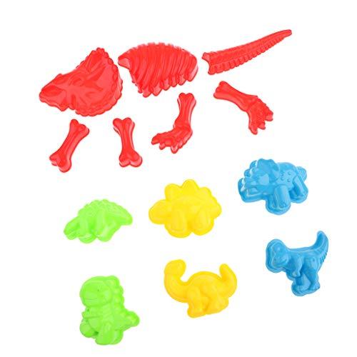perfeclan Moldes de Arcilla de Arena Multicolor Moldes de Arena de Dinosaurio para Niños Juego de Parque de Playa