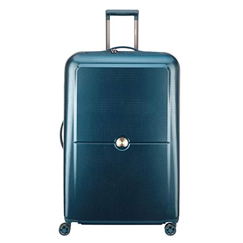 DELSEY Paris Turenne Hardside Luggage with Spinner Wheels, Blue, Checked-Large 30-Inch