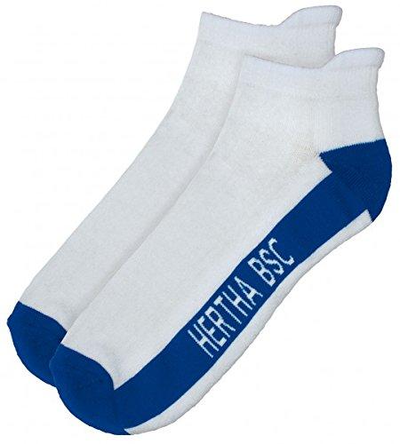 Hertha BSC Berlin 2Paar Sneaker-Socken / Socke in versch. Größen HBSC Fanartikel, Größe:35-38