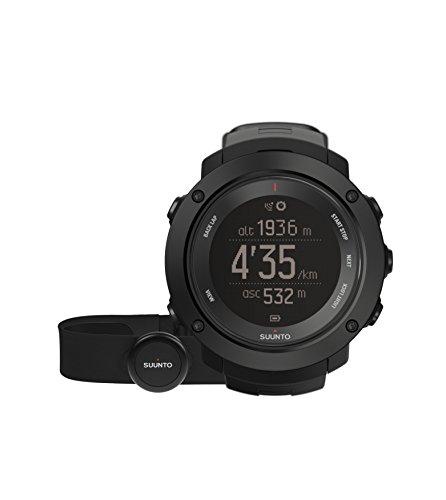 Suunto - Ambit3 Vertical HR - SS021964000 - Reloj GPS Multideporte + Cinturón de frecuencia cardiaca (Talla M) - Ideal para montaña - Negro