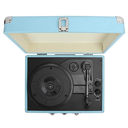 WGHH Record Player Giradischi per Il riproduttore di Vinile Phonografo Portatile Wireless con Altoparlanti dinamici incorporati Valigia Design Design Giradischi Giradischi in Vinile