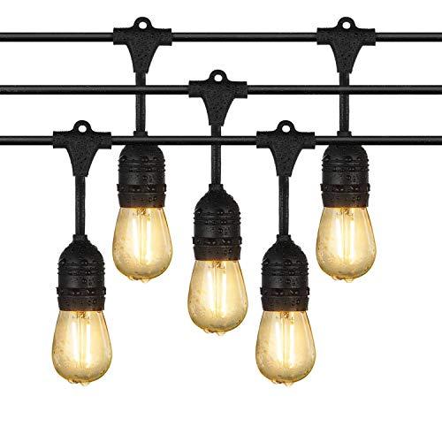 iEGrow Lichterkette Außen 10 Meter Wasserdicht LED Outdoor Lichterkette Glühbirnen 10 E27 Edison Vintage Lichterketten warmweiß mit Stecker für Garten, Bäume, Terrasse, Weihnachten, Hochzeiten Party