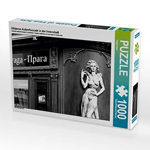 Hölzerne Außenfassade in der Innenstadt 1000 Teile Puzzle quer: Prag