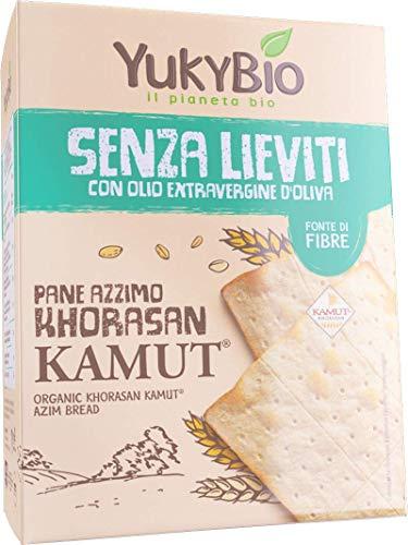 8 x Yukybio Pane Azzimo di grano khorasan KAMUT 200g