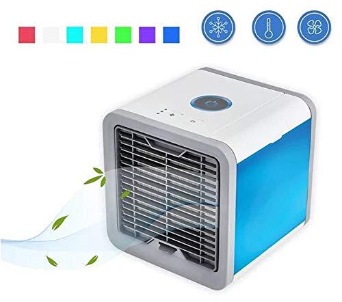 4 in 1Luftkühler,Mobile Klimageräte Ventilator Air Cooler Luftbefeuchter Klimaanlage Verdunstungskühler (Blau)