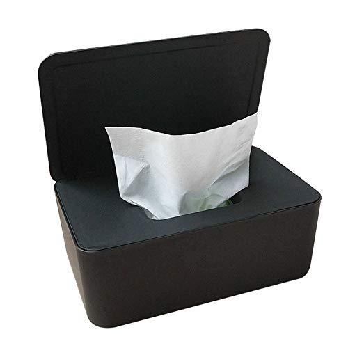 Rxan - Dispensador de toallitas húmedas con tapa para oficina, escritorio, dormitorio, baño