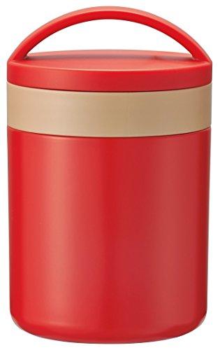 スケーター 保温 保冷 スープジャー 300ml レトロフレンチ オレンジレッド LJFC3