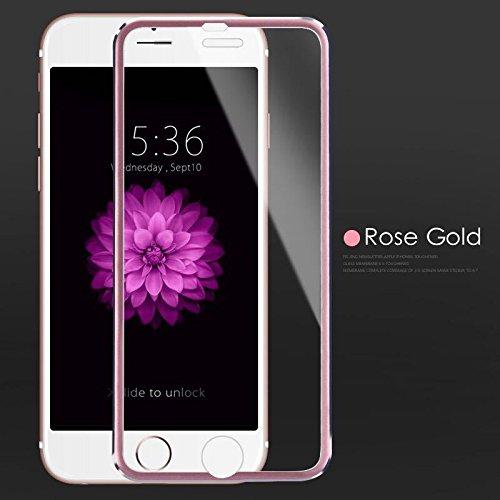Cristal protector 3D para iPhone 5, cristal templado, color rosa