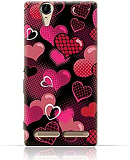 Sony Xperia T2 Ultra TPU Silicone Case with Valentine Hearts Seamless Pattern Design