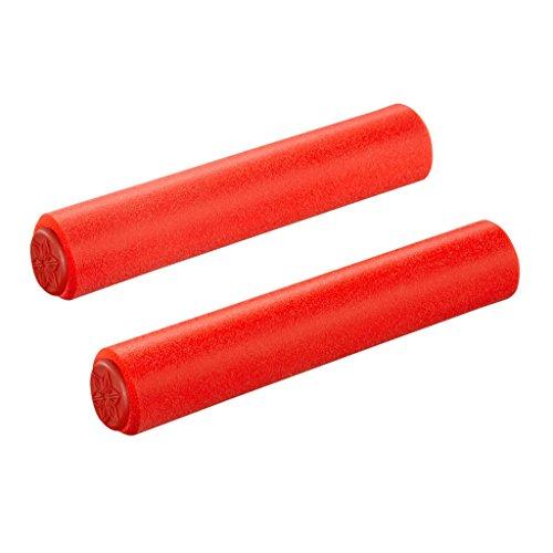 Supacaz Silikongriffe, Unisex, für Erwachsene, Unisex - Erwachsene, SG-09, rot, 32mm