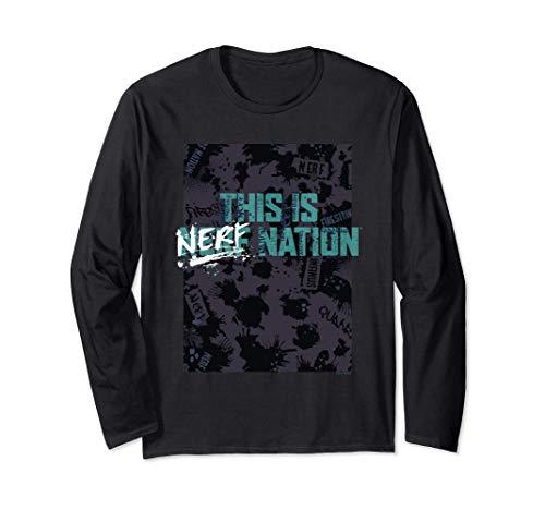 Nerf This Is Nerf Nation Poster Langarmshirt