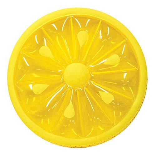 L.J.JZDY Luchtmatras, rond, citroen, drijvend, hangmat, ligstoel, ligstoel, drijvend bed