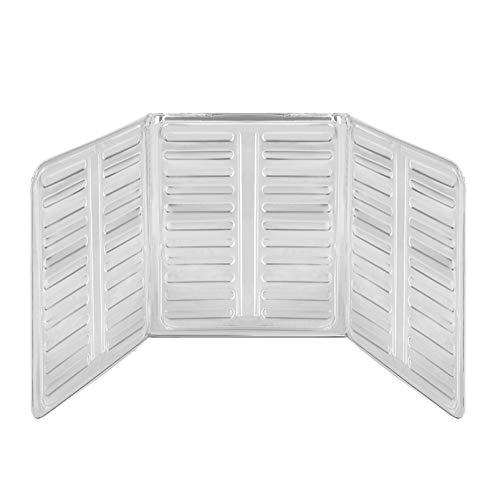 OUNONA Splash Guard Aluminum Foil Gas Stove Shield Oil Splatter Screen Kitchen Tool for Kitchen Wall Oil(84cm x 32.5cm)