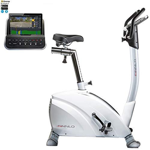 HAMMER Finnlo Ergometer Heimtrainer Exum XTR BT, Qualitäts-Ergometer mit 15 Trainingsprogrammen, Induktionsbremssystem, Bluetooth und App-Steuerung, 150 kg Gewichtsbelastung, 102 x 55 x 125 cm