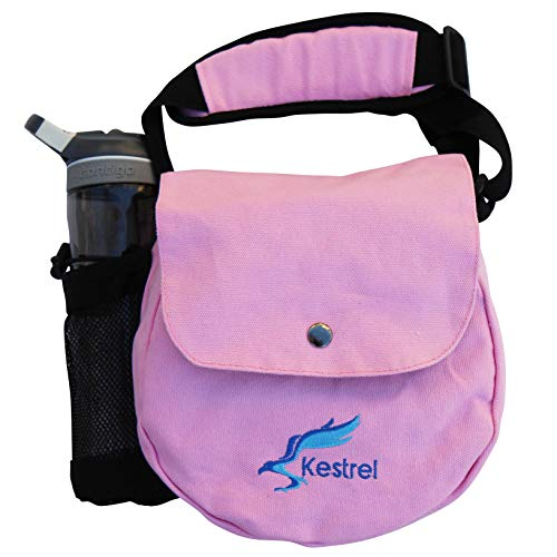 Kestrel Disc Golf Bag   Fits 6-10 Discs + Bottle   for Beginner and Advanced Disc Golf Players   Extremely Durable Canvas   Disc Golf Bag Set   Small Disc Golf Bag (Pink)