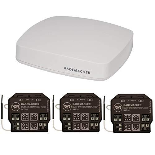 Rademacher HomePilot (3. Generation) + 3x Rohrmotor-Aktor 9471-1 DuoFern Motor nachrüsten Funk| Aktionspaket Smart Home, Funk-modul Automatisierung