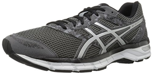 ASICS Men's Gel-Excite 4 Running Shoe, Carbon/Silver/Black, 9.5 M US