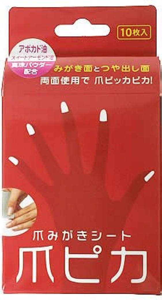 留め金取り消す証明する爪みがき両面シート 爪ピカ 10枚入