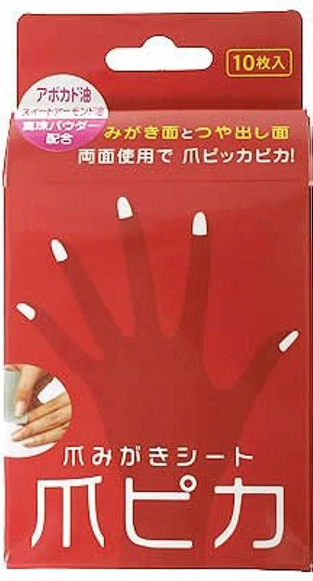 考え解体する梨爪みがき両面シート 爪ピカ 10枚入