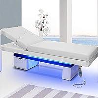 Elektrische Massageliege Wellnessliege LED 003815 weiß