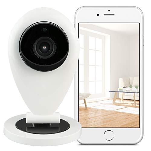 Hikam S6: de camera voor een veilige thuis (bewakingscamera met persoonlijke detectie, IP-camera, HD, met app/instructies/ondersteuning)