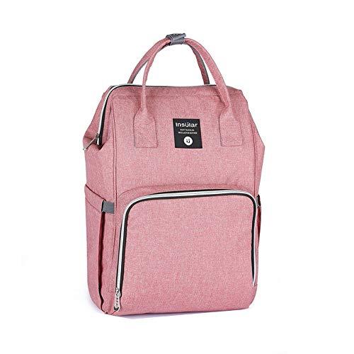 Nwhw Sac à dos à langer pour soins de bébé, sac à dos de voyage multifonction, étanche, grande capacité, élégant et rose