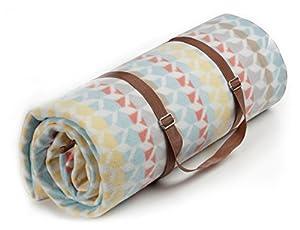 Biederlack Decke/Picknick Picknick XXL, 100% Polyester, und 100% Polyethylen, mehrfarbig/, geometrisches Muster, 200x 200cm