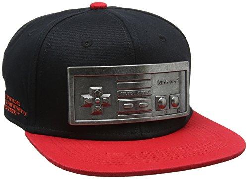 Nintendo - Casquette Snapback - Nes Contrôler Métal Plate