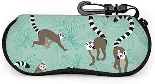 Katta Lemur - Funda de protección para gafas de sol para niños, portátil, con cierre de neopreno, suave, bolsa de gafas de sol para mujer