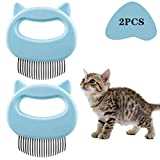 KesaPlan Pet Grooming Shedding Brush for Dog Cat Hair, Deshedding Massage Comb, Dog Brush End Shedding 2pcs
