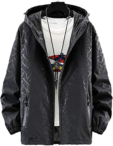 Más tamaño Hombres Chaquetas Abrigos Streetwear Vintage Windbreaker con capucha Bomber Chaquetas