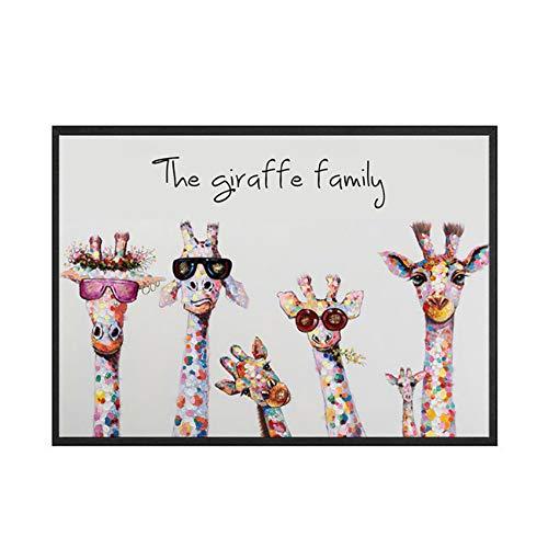 NoBrand Impression sur Toile La Famille des girafes Peinture...