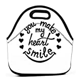 Lunch Tote Bag Cute Lunch Box Lunchbox Large Reusable Lunch Bag you make my...
