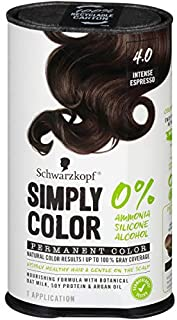 Schwarzkopf Simply Color Permanent Hair Color, 4.0 Intense Espresso