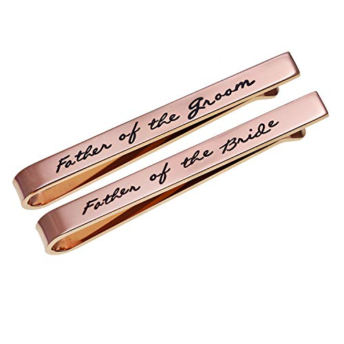 Melix Home Krawattenklammer für den Vater des Bräutigams, Krawattenklammer, Edelstahl, Krawattenklammer, Hochzeit, Party, Geschenk für Mann