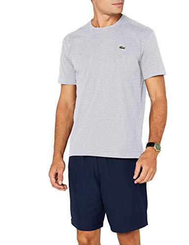 Lacoste Sport Herren T-Shirt TH7618, Grau (Argent Chiné Cca), Small (Herstellergröße: 3)