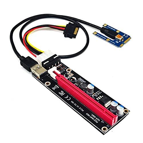 DNKKQ Einfach zu ersetzen PCIe to PCI 16x Riser für Laptop Externe Grafikkarte EXP GDC für BTC Antminer MPCIE zu PCI-E Slot Card Computerzubehör (Color : Red)