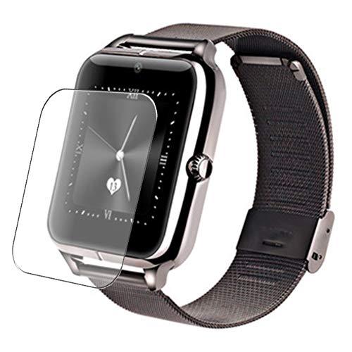 Vaxson 3 Stück Schutzfolie, kompatibel mit Smartwatch smart watch Z60, Displayschutzfolie Bildschirmschutz Blasenfreies TPU Folie [nicht Panzerglas]
