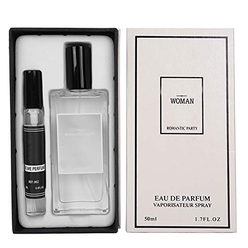 Lady Perfume Gift, fragancia femenina ligera y refrescante de larga duración, spray de agua de perfume para mujeres, el aroma refrescante del té y grosella negra (50 + 12 ml)