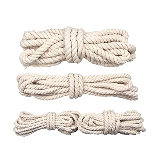 XBSXP Cotton Rope, Multifunctional Solid Braid Twine Rope, for Tie/Pull/Swing/Climb and Knot,10m_4mm